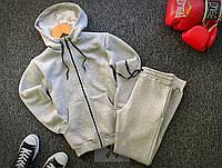 Мужской утепленный спортивный костюм, серый