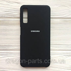 Чехол Силикон Silicone case для Samsung Galaxy A7 A750 2018 черный