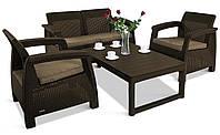 Набор садовой мебели Corfu Set Lyon Table Rattan из искусственного ротанга, фото 1