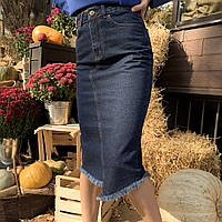 Джинсовая юбка карандаш синего цвета It's Basic (1331W18) размер 34