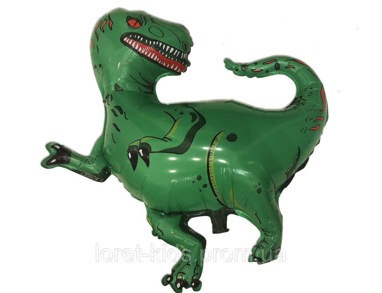 Повітряний фольгований куля Тиранозавр 88х90 см