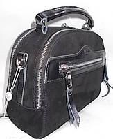 Женская кожаная сумка на плечо 1415-В Black кожаные сумки, кожаные клатчи купить недорого