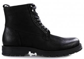 Ботинки мужские чёрные кожанные Alpine Crown