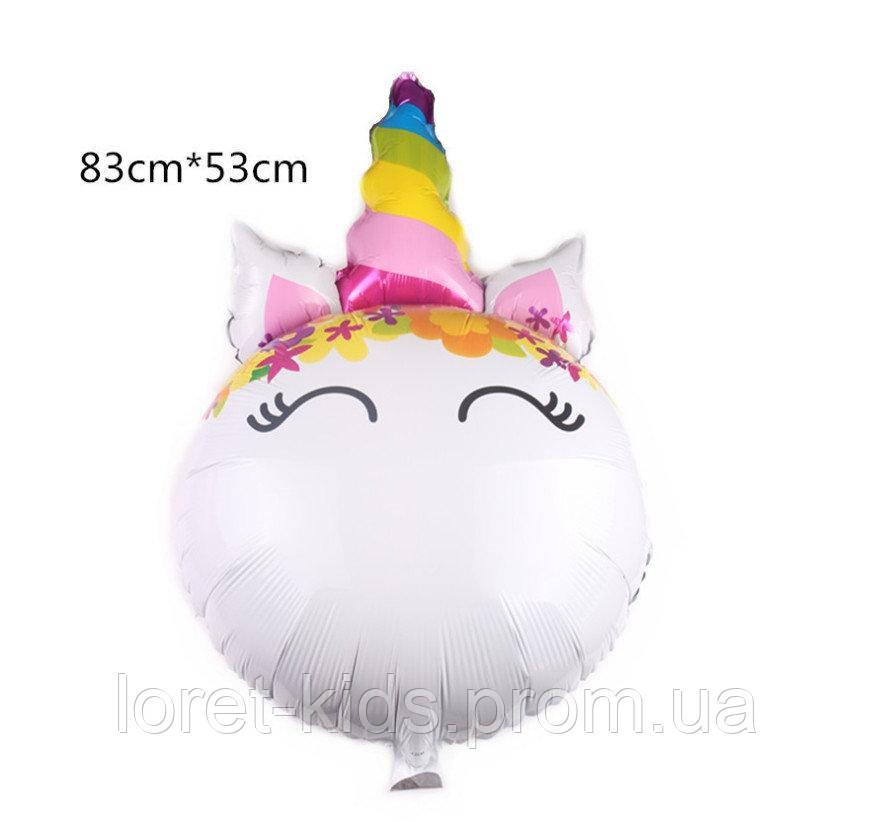 Фольгированный шар Единорог 83х53 см