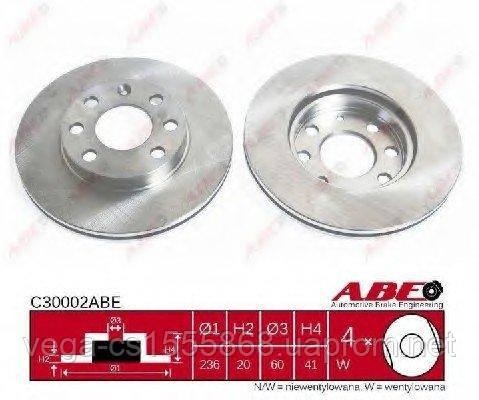 Тормозной диск Abe C30002ABE на Opel Astra / Опель Астра