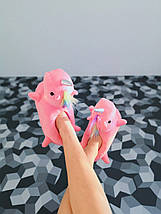 Детские домашние светящиеся тапочки единороги розовые размер 25 - 31, фото 3