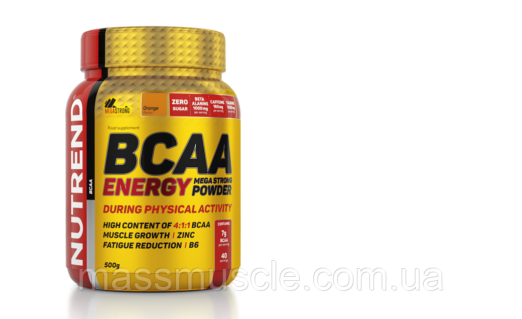 Амінокислоти В Energy BCAA Mega Strong Powder 500 g