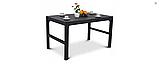 Набір садових меблів Corfu Set Lyon Table Rattan Graphite ( графіт ) з штучного ротанга ( Keter ), фото 4