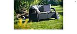Набір садових меблів Corfu Set Lyon Table Rattan Graphite ( графіт ) з штучного ротанга ( Keter ), фото 10