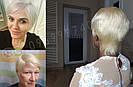 Парик блонд из натуральных волос короткая стрижка женский, фото 2