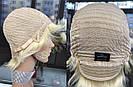 Парик блонд из натуральных волос короткая стрижка женский, фото 7