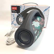 Портативная колонка bluetooth блютуз акустика для телефона с флешкой повербанк камуфляж JC-222, фото 2