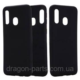 Чехол Силикон для Samsung Galaxy A40 черный