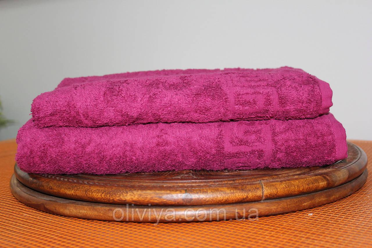 Набор полотенец бордовый