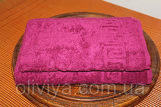 Набор полотенец бордовый, фото 2