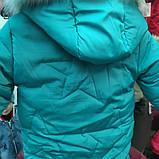 Детская зимняя куртка для девочки Звезда (р.110-128), фото 4