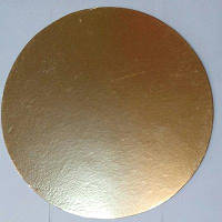Подложка для торта круглая золотого и серебрянного цвета Ø 400 мм (уп 5 шт)
