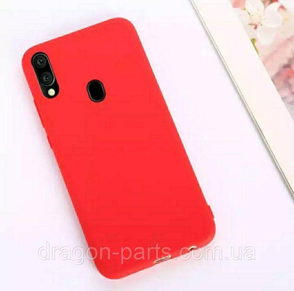 Чехол Силикон для Samsung Galaxy M20 красный