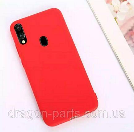Чехол Силикон для Samsung Galaxy M20 красный, фото 2