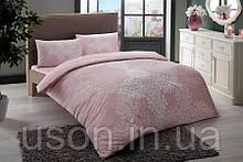 Комплект постельного белья турецкое tac ранфорс евро размер Janna pembe