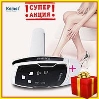 Фотоэпилятор Kemei KM-6812, лазерный эпилятор Kemei для лица и тела со съёмными кариджами, эпилятор Кемей