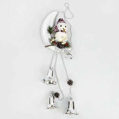 Декоративная композиция Снеговик на луне C 30427 (60), фото 2