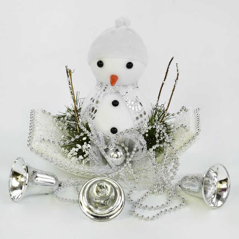 Декоративная новогодняя подвеска C 30560 (80) Снеговик