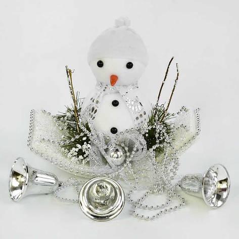Декоративная новогодняя подвеска C 30560 (80) Снеговик, фото 2