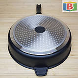 Сковорода сотейник с керамическим покрытием Размер 28 см Swiss Zurich 28cм SZ-155-28 Швейцария, фото 4