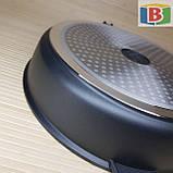 Сковорода сотейник с керамическим покрытием Размер 28 см Swiss Zurich 28cм SZ-155-28 Швейцария, фото 6