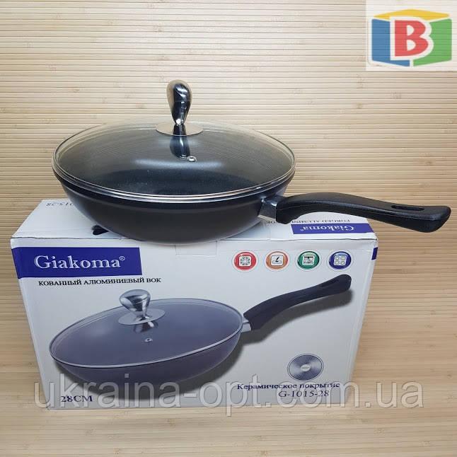 Сковорода сотейник с керамическим покрытием Размер 28 см Giakoma 1015/28