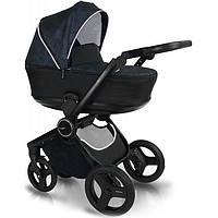 Универсальная коляска 2 в 1 Bexa Fresh FR2 Черно-синяя
