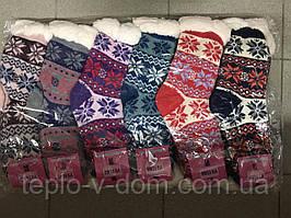 Носки шерстяные на меху женские