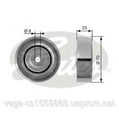 Натяжной ролик поликлинового ремня Gates T36161 на Opel Omega / Опель Омега