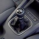 Ручка кпп с чехлом кулисы 6 ступеней VW Volkswagen Golf 5, 6, Jetta чёрная, фото 6