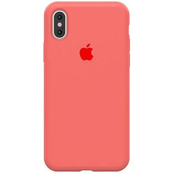 "Чехол Silicone case (A) (с закрытым низом) для Apple iPhone X (5.8"") / XS (5.8"")"