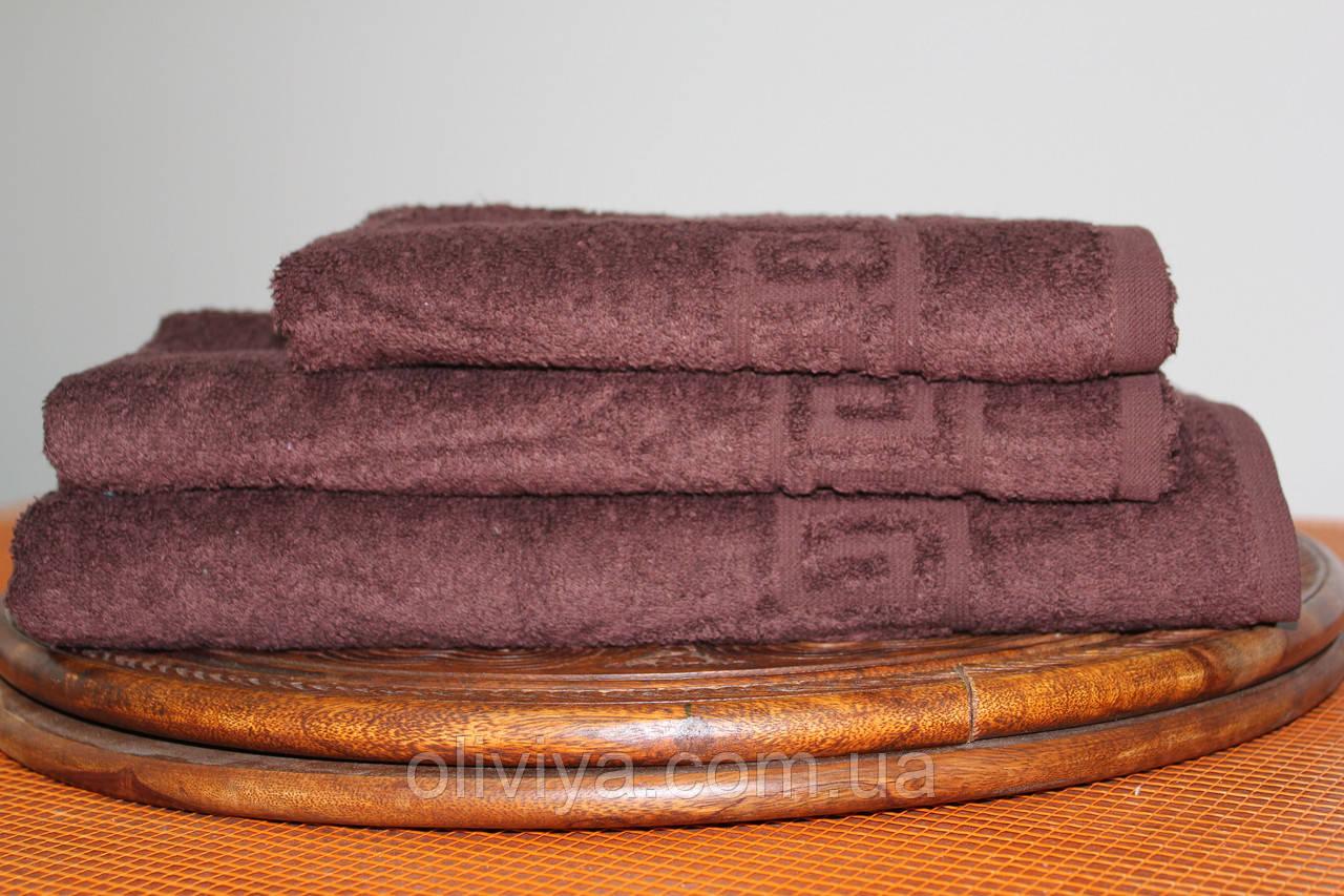 Набор полотенец  т. коричневый