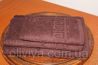 Набор полотенец  т. коричневый, фото 2