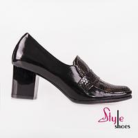 Модельные женские туфли на кирпичике, фото 1