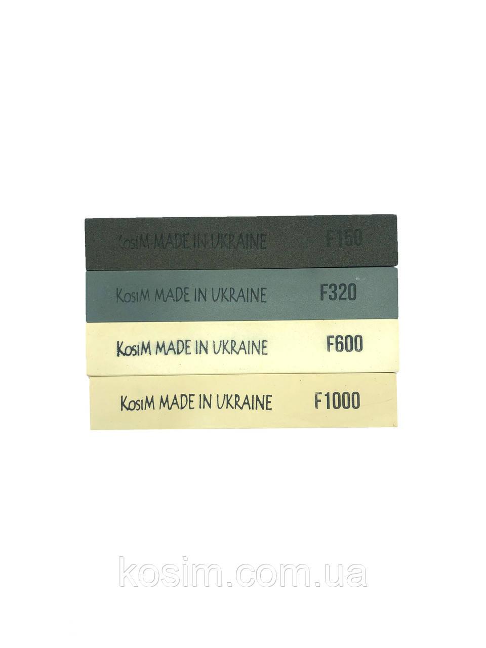 Точильные камни Kosim масляные (F150/320/600/1000) 6 мм Набор 4 шт