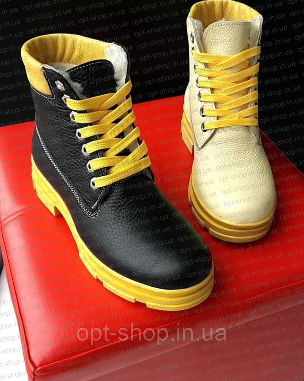 Женские зимние ботинки в стиле Тимберленд