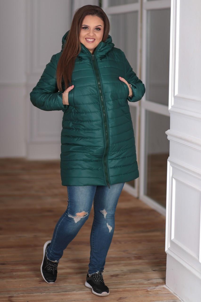 Женская зимняя куртка удлиненная Плащевка на синпоне + овчина Размер 44-46 48-50 52-54 В наличии 3 цвета