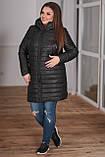 Женская зимняя куртка удлиненная Плащевка на синпоне + овчина Размер 44-46 48-50 52-54 В наличии 3 цвета, фото 3