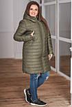 Женская зимняя куртка удлиненная Плащевка на синпоне + овчина Размер 44-46 48-50 52-54 В наличии 3 цвета, фото 4