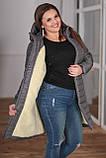 Женская зимняя куртка удлиненная Плащевка на синпоне + овчина Размер 44-46 48-50 52-54 В наличии 3 цвета, фото 6
