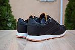 Чоловічі зимові кросівки Reebok Classic з хутром (чорні), фото 2
