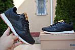 Чоловічі зимові кросівки Reebok Classic з хутром (чорні), фото 6