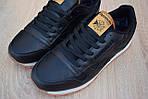 Чоловічі зимові кросівки Reebok Classic з хутром (чорні), фото 8