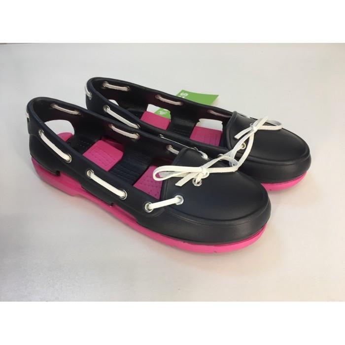 Мокасины Crocs женские Beach Line Boat Shoe темно-синие 36 разм.