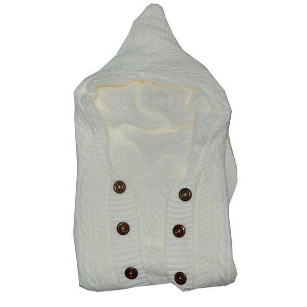 Детский конверт с капюшоном на пуговицах , вязаный на махровой подкладке (мин заказ 1 ед)